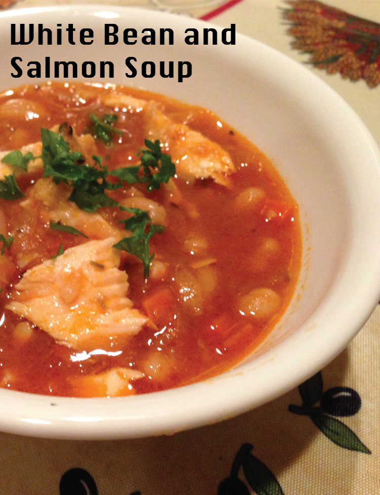 White Bean and Salmon Soup