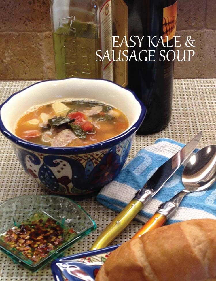 Easy Kale and Sausage Soup