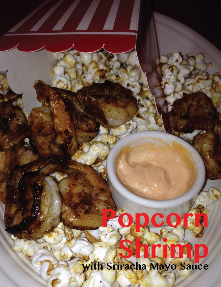Popcorn Shrimp with Sriracha Mayo Sauce