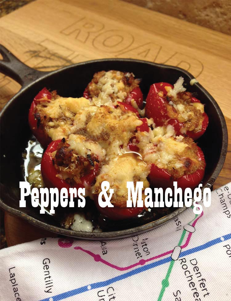 Peppers and Manchego recipe