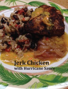 Jerk Chicken with Hurricane Sauce