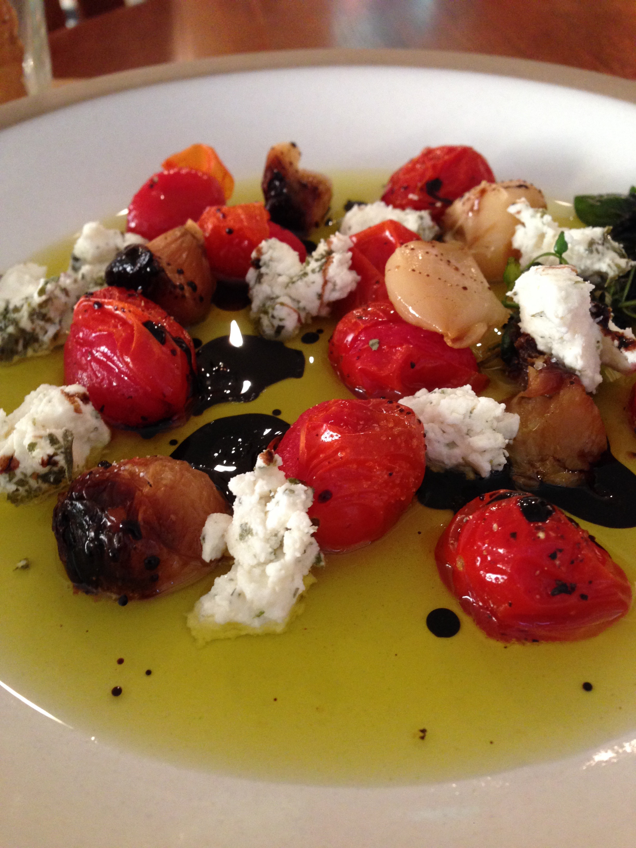 Olive Oil & Balsamic Reduction Appetizer