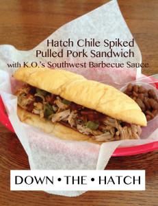 Hatch Chile Pork Sandwich