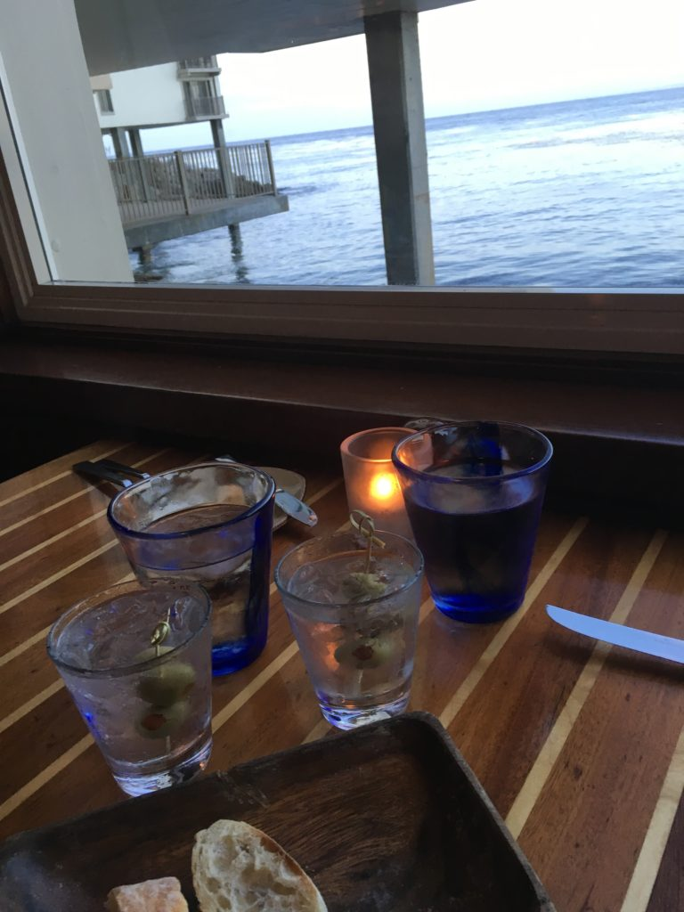Table with a view of Monterey Bay