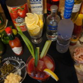 Trick or Treat for Halloween Bloody Mary Bar