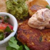 Tonight's Menu:  Yucatan Fish Cakes Platter